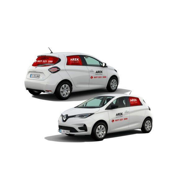Reklama - naklejki na samochód osobowy mały - segment A 2
