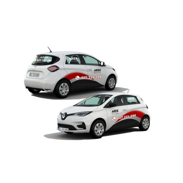 Reklama - naklejki na samochód osobowy mały - segment A 3