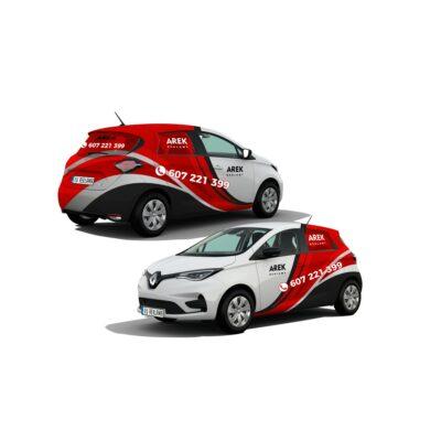Reklama - naklejki na samochód osobowy mały - segment A 4
