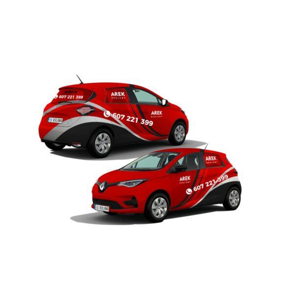Reklama - naklejki na samochód osobowy mały - segment A 5