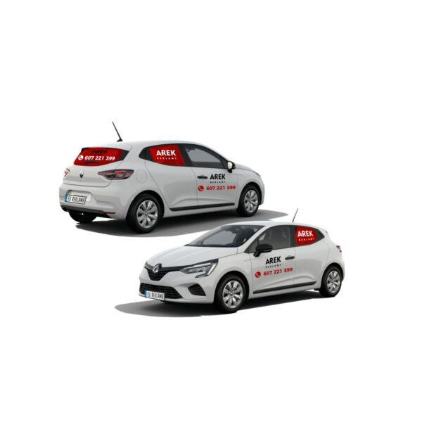Reklama - naklejki na samochód osobowy średni - segment B 2