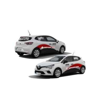 Reklama - naklejki na samochód osobowy średni - segment B 3