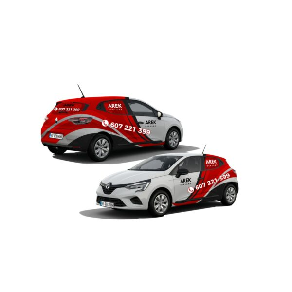 Reklama - naklejki na samochód osobowy średni - segment B 4