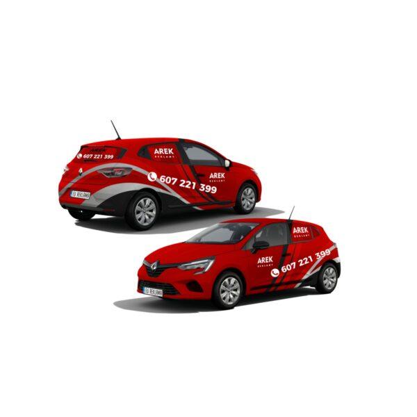 Reklama - naklejki na samochód osobowy średni - segment B 5