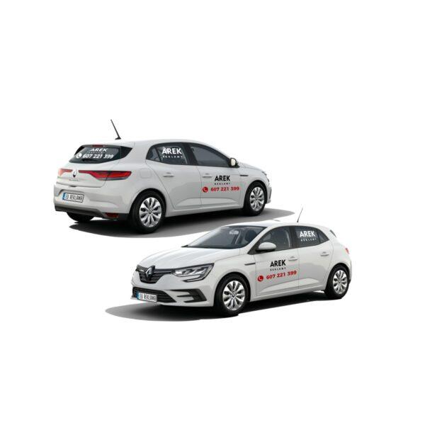 Reklama - naklejki na samochód osobowy średni - segment C 1