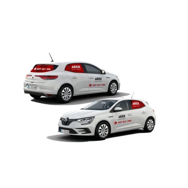 Reklama - naklejki na samochód osobowy średni - segment C 2