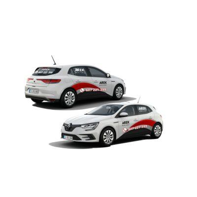 Reklama - naklejki na samochód osobowy średni - segment C 3