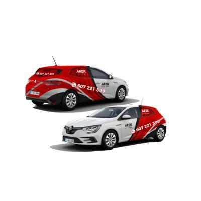 Reklama - naklejki na samochód osobowy średni - segment C 4