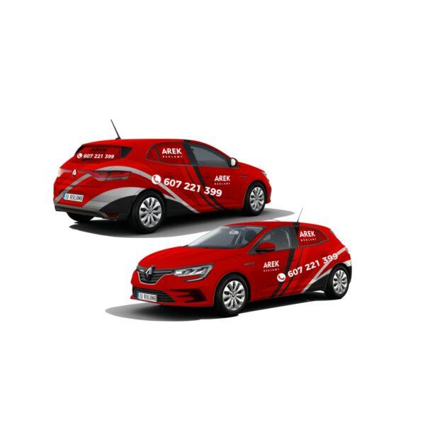 Reklama - naklejki na samochód osobowy średni - segment C 5