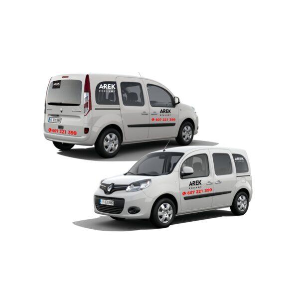 Reklama - naklejki na samochód osobowy typu minivan 1