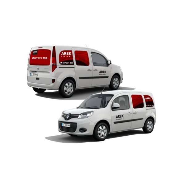Reklama - naklejki na samochód osobowy typu minivan 2