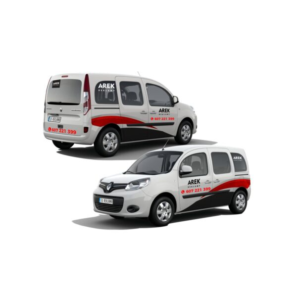 Reklama - naklejki na samochód osobowy typu minivan 3