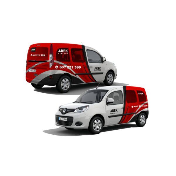 Reklama - naklejki na samochód osobowy typu minivan 4