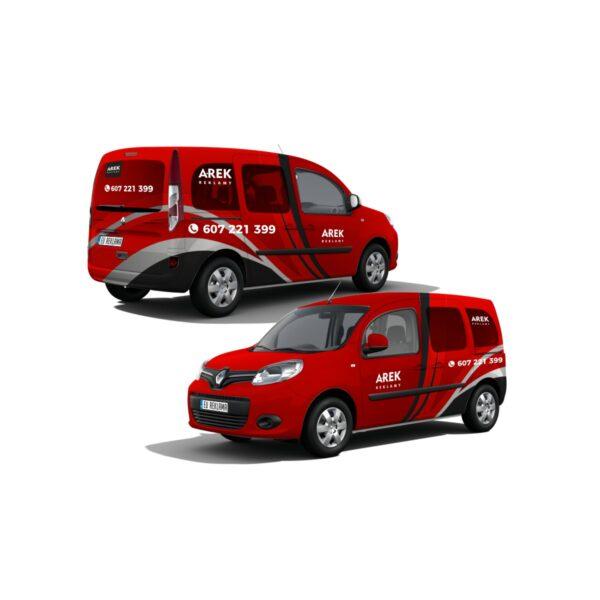 Reklama - naklejki na samochód osobowy typu minivan 5