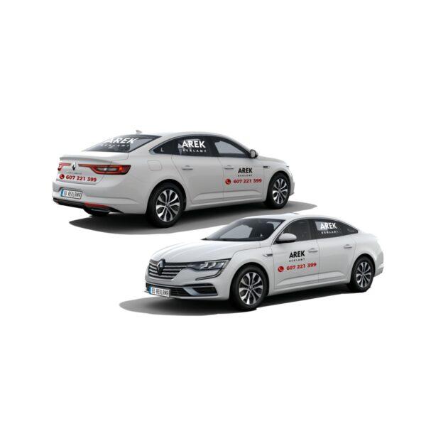 Reklama - naklejki na samochód osobowy typu sedan - segment D 1