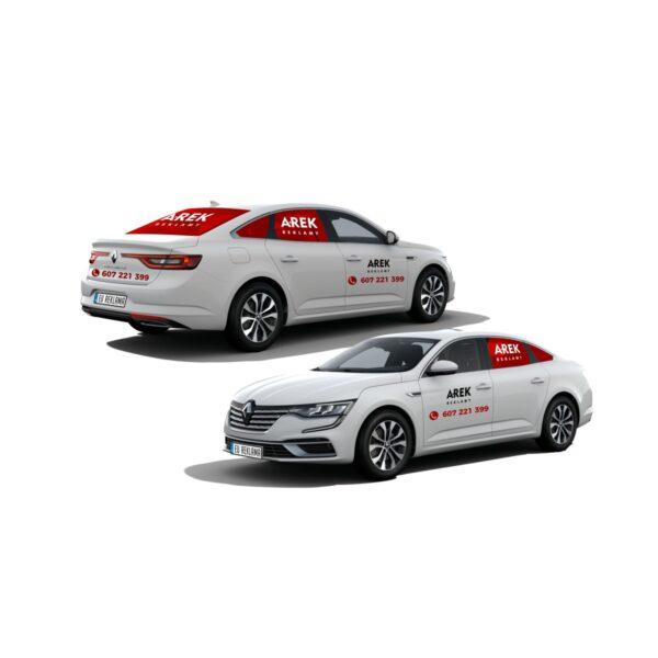 Reklama - naklejki na samochód osobowy typu sedan - segment D 2