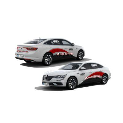 Reklama - naklejki na samochód osobowy typu sedan - segment D 3