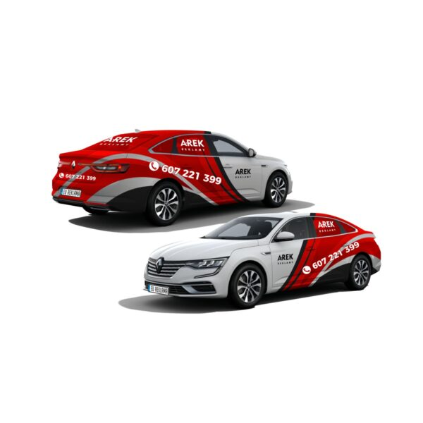 Reklama - naklejki na samochód osobowy typu sedan - segment D 4