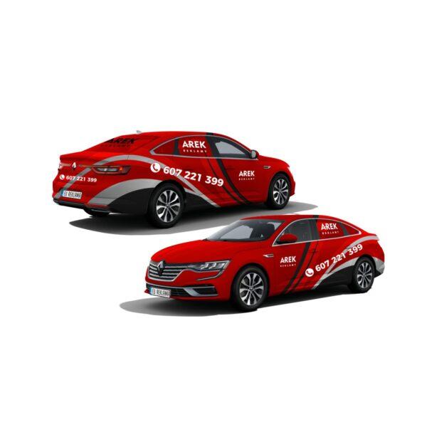 Reklama - naklejki na samochód osobowy typu sedan - segment D 5
