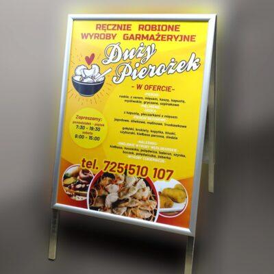 potykacz reklama przenośna stojak na plakat