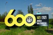 Przestrzenna reklama odblaskowa witacz miasta Mińsk Mazowiecki