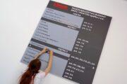 Oznakowanie w budynku wykonanie systemu oznakowania informacyjnego obiektu