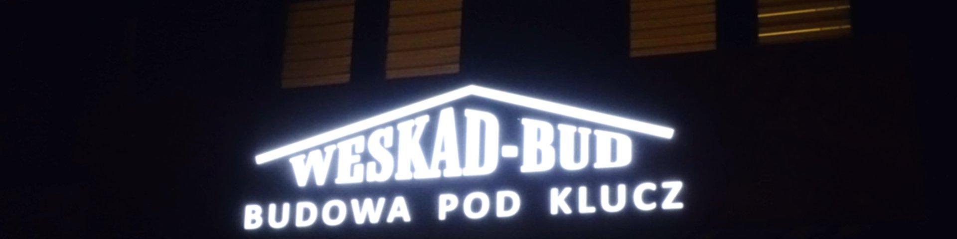 Reklama zewnętrzna na budynek świecące logo na ścianę