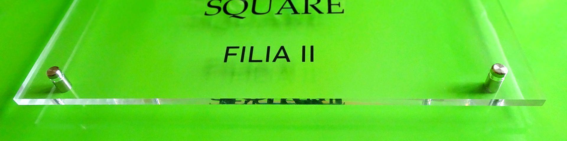 cena szyldu z pleksiglasu reklama elegancka tablica reprezentacyjna