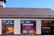 reklama straży pożarnej na remizę oznakowanie reprezentacyjne jubileuszowa grafika