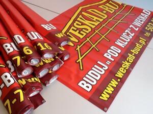 Banery reklama na budynek ogrodzenie tablice billboardowe