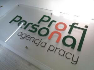 Duża tablica reprezentacyjna szyld z pleksiglasu logo firmy