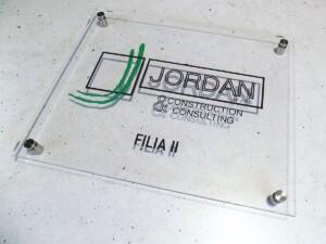 Firmowa tablica reprezentacyjna szyld oznakowanie reklama