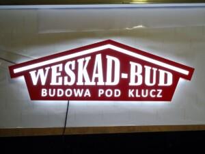 Reklama świetlna logo podświetlane produkcja