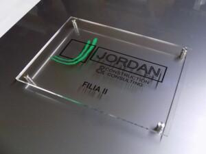Szyld firmowy tablica reprezentacyjna eleganckie oznakowanie reklama