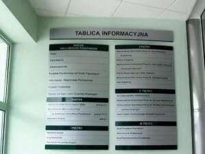 oznakowanie informacyjne obiektu system oznakowania w budynku