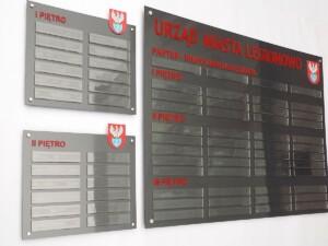 system informacji wizualnejj oznakowanie do wewnątrz budynku