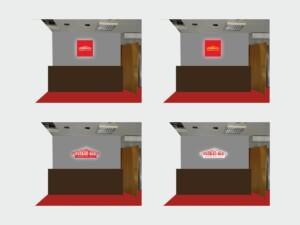 wizualizacja projektowanie graficzne reklamy wewnętrznej ściany